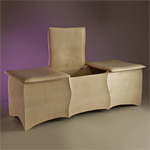 'Cushions' chest - click here to look at an enlarged image of this chest and read about the design