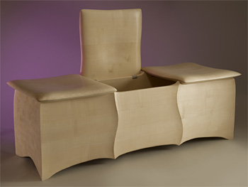John Makepeace    Furniture Designer and Maker    'Cushions' Chest