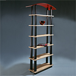 'Spectrum' shelves - click here to look at an enlarged image of these shelves and read about the design