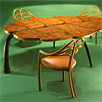 'Spring' table - click here to look at an enlarged image of this table and read about the design