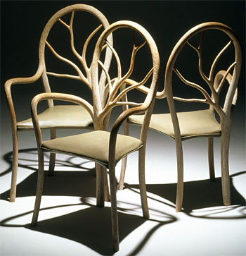 John Makepeace    Furniture Designer and Maker    'Sylvan' Chairs