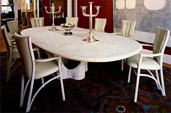 John Makepeace    Furniture Designer and Maker    'Time' Table and Chairs