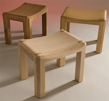 John Makepeace    Furniture Designer and Maker    'Young Thrones' Children's Stool