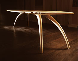 'Vault' table, by John Makepeace, furniture designer and maker